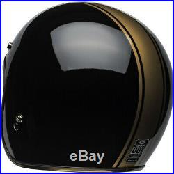 Bell Custom 500 DLX Rally Black Bronze Open Face Motorcycle Helmet Jet Cruiser