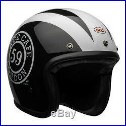 Bell Custom 500 Deluxe Ace Cafe 59 Black & White Open Face Retro Helmet
