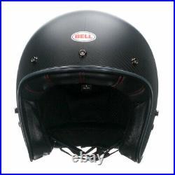 Bell Custom 500 Deluxe Carbon Open Face Motorbike Motorcycle Helmet