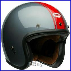 Bell Custom 500 Deluxe Rally Gloss Grey/red Open Face Retro Helmet
