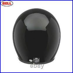 Bell Custom 500 Gloss Black Open Face Motorcycle Helmet With Cloth Helmet Bag