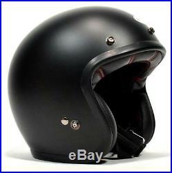 Bell Custom 500 Matte Black Solid Open Face Retro Helmet