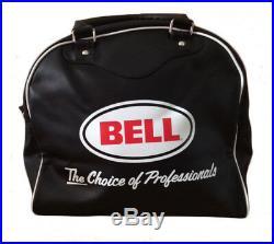 Bell Custom 500 Open Face Motorcycle Helmet Vintage Gloss White + Free Carry Bag