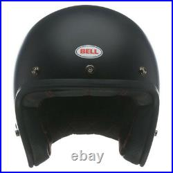 Bell Custom 500 Open-face Motorcycle Helmet Motorbike Touring Matt Black Lid J&S