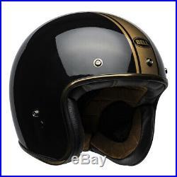 Bell Custom 500 Rally Black Bronze Deluxe Open Face Retro Helmet