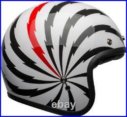 Bell Custom 500 Se Vertigo Open Face Helmet Free Shield, Peak & Bag