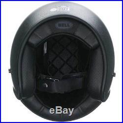 Bell Custom 500 Solid Black Flake Open Face Jet Motorcycle Helmet All Sizes