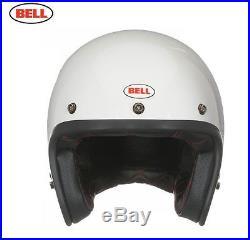 Bell Custom 500 Solid Vintage White Gloss Open Face Helmet Sz M
