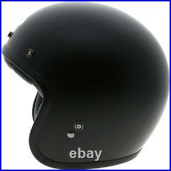 Bell Custom 500 Standard Motorbike Motorcycle Open Face Helmet Solid Matt Black