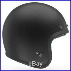 Bell Custom 500 Standard Solid Matt Black Open Face Motorcycle Motorbike Helmet