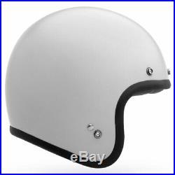 Bell Custom 500 V2 Solid Vintage White Open Face Jet Motorcycle Helmet