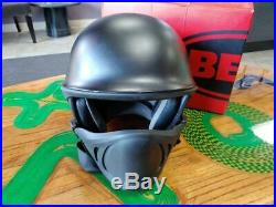 Bell Helmet Half Rogue Open Face Matte Black SIZE XL LARGE With Face Mask
