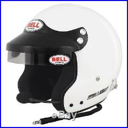 Bell Mag 1 Rally FIA Approved Racing Race Car Open Face Crash Helmet Lid White