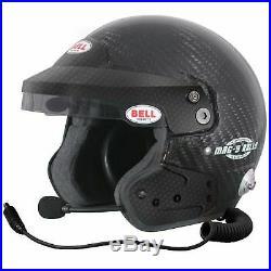 Bell Mag-9 Carbon Race Rally Open Face Intercom Helmet Size 59cm