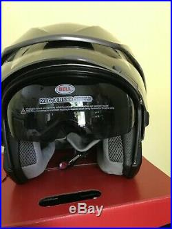 Bell Mag-9 Daul Shields Open Face Riding Motorcycle Street Helmet XL BLUETOOTH