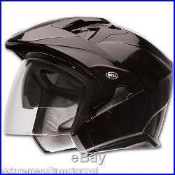 Bell Mag-9 Open Face Motorcycle Helmet Internal Tint Visor Gloss Black M L