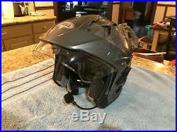 Bell Mag-9 Open Face Motorcycle Helmet (Titanium, X-Large) with Sena Headset