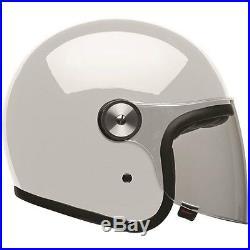 Bell Riot Gloss White Moto Motorcycle Motorbike Open Face Jet Helmet All Sizes