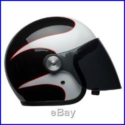 Bell Riot Open Face Motorcycle Helmet Visor Scooter Boost White Black Red J&S