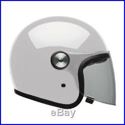 Bell Riot Open Face Motorcycle Helmet Visor Scooter Tour Solid White Plain J&S