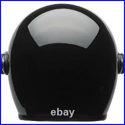 Bell Riot Solid Black Open Face Motorcycle Helmet Jet Urban Scooter Crash Lid