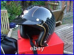 Bell Roland Sands Check It Custom 500 Open Face Helmet Large