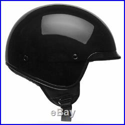 Bell Scout Air Gloss Black Motorbike Motorcycle Open Face Helmet All Sizes