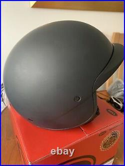 Bell Scout Air Matt Black Open Face Motorbike Motorcycle Helmet
