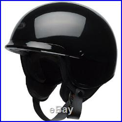 Bell Scout Air Open Face Motorcycle Street Helmet Gloss Black Size Large