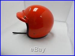 Bell Vintage Super Magnum Helmet Orange Open Face Clean! Triumph Bsa Harley