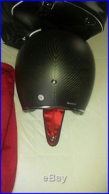 Bell custom 500 helmet/carbon fiber matte finish/small size. Open Face race lid