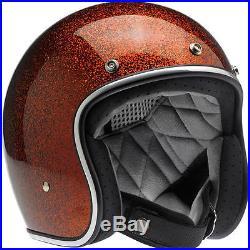 Biltwell Bonanza 3/4 Open Face Helmet Rootbeer Megaflake Uk Stockist