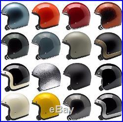 Biltwell Bonanza Open Face Motorcycle Helmet Choose Size & Color