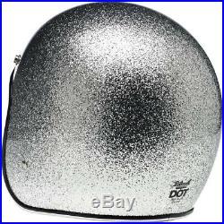 Biltwell Inc Bonanza Open Face Helmet Brite Silver