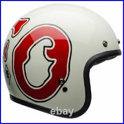 CHEAP Bell Custom 500 Open Face Motorcycle Helmet WFO White / Red All Sizes