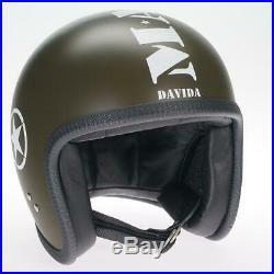 CLEARANCE SALE Davida Speedster Open Face Motorcycle Helmet Mashed X-Large