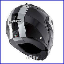 Caberg Duke Legend Black White Motorcycle Helmet Flip Front Dual Open/Full Face