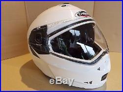 Caberg Duke White Flip Front Motorcycle Helmet Dual Open/Full Face Motorbike D46