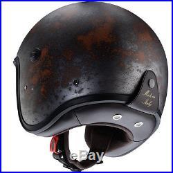 Caberg Freeride Rust Motorcycle Motorbike Open Face Jet Retro Helmet All Sizes