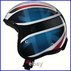 Caberg Freeride UK Union Jack Motorbike Open Face Helmet Blue Red White