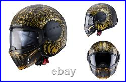 Caberg Ghost Maori Jet Open Face Motorcycle Motorbike Helmet