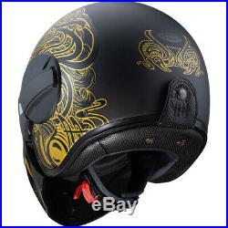Caberg Ghost Maori Matt Black Gold Open Face Motorcycle Helmet Urban Street Jet