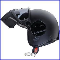 Caberg Ghost Matte Matt Black Open Face Streetfighter Urban Motorcycle Helmet