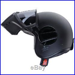 Caberg Ghost Open Face Motorbike Motorcycle Helmet With Face Mask Matt Black