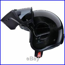 Caberg Ghost Open Face Motorbike Motorcycle Helmet With Intergrated Mask Carbon