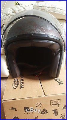 Caberg Jet Free Ride Open Face Motorcycle Motorbike Retro Helmet Black/Rusty