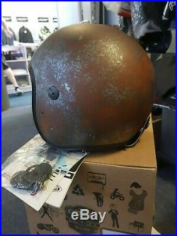 Caberg Jet Free Ride Open Face Motorcycle Retro Helmet Black/Rusty Size Medium