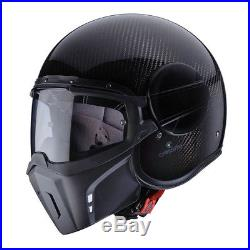 Caberg Jet Ghost Carbon Open Face Flip Up Motorcycle Helmet Gloss Finish SIZE L