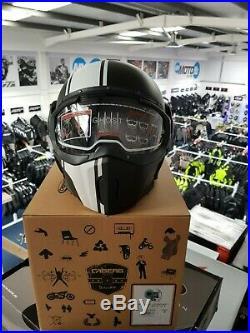 Caberg Jet Ghost Legend Open Face Motorcycle Bike Helmet Matt Black/White S