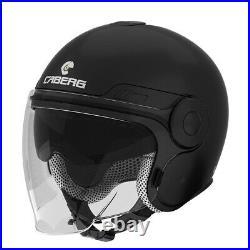 Caberg Uptown Jet Open Face DVS Retro Scooter Motorcycle Helmet Matt Black